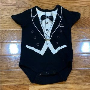 Baby Essentials Tuxedo Onsie